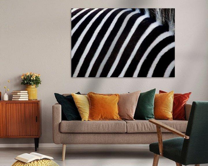 Beispiel: White and black stripes of a zebra. von Michar Peppenster