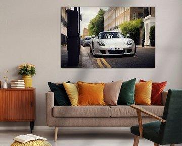 Zilvere supercar Porsche Carrera GT von Ansho Bijlmakers