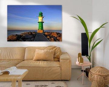 Leuchtturm am Abend van Ostsee Bilder
