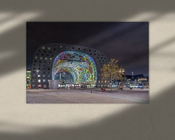Markthal Rotterdam by night van Tux Photography