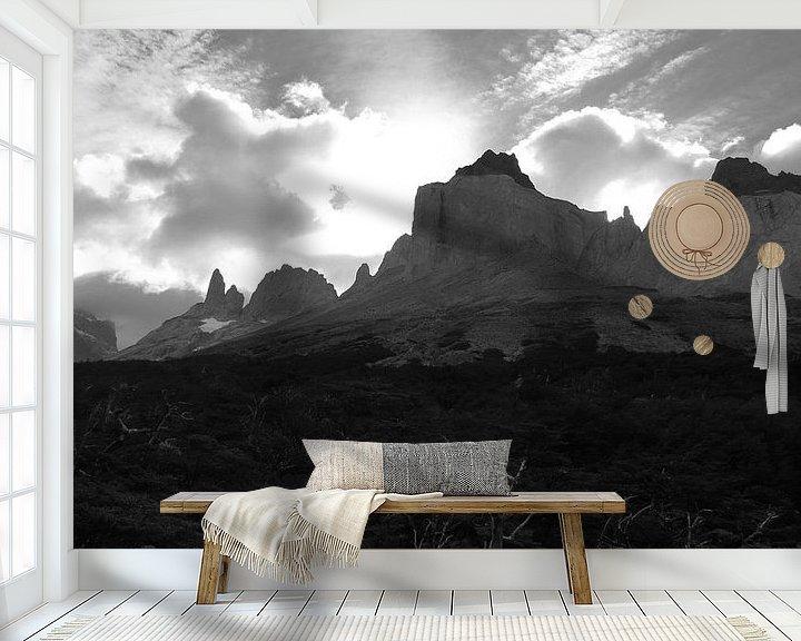 Sfeerimpressie behang: Cuernos del Paine van Heike und Hagen Engelmann