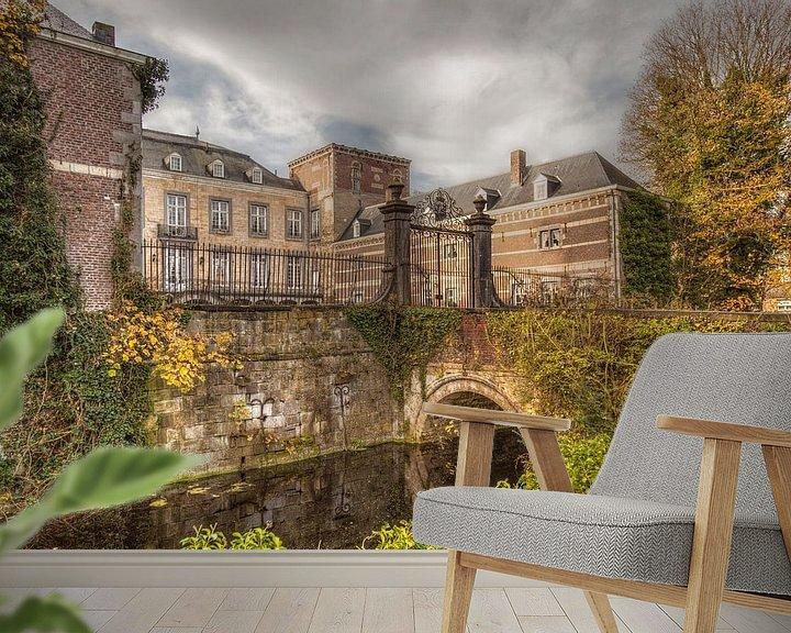 Impression: Kasteel Borgharen is een van oorsprong middeleeuws kasteel gelegen aan de rivier de Maas  sur John Kreukniet