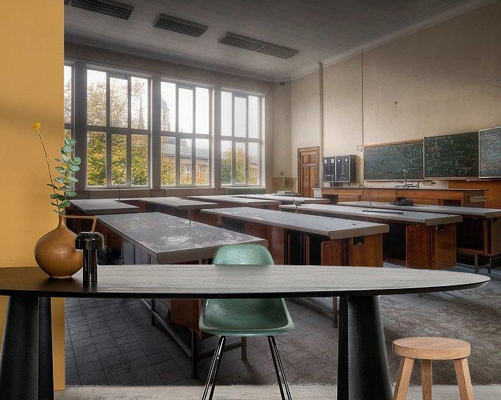 Sfeerimpressie behang: School is Uit van Roman Robroek