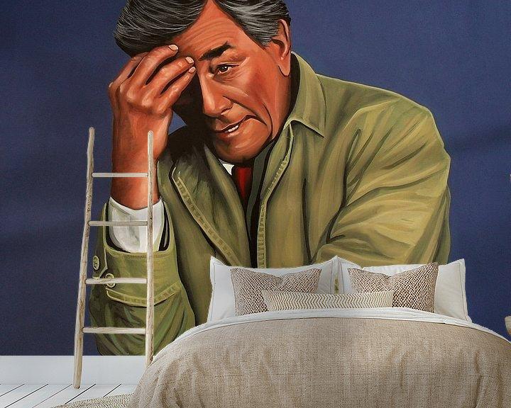 Beispiel fototapete: Peter Falk as Columbo painting von Paul Meijering