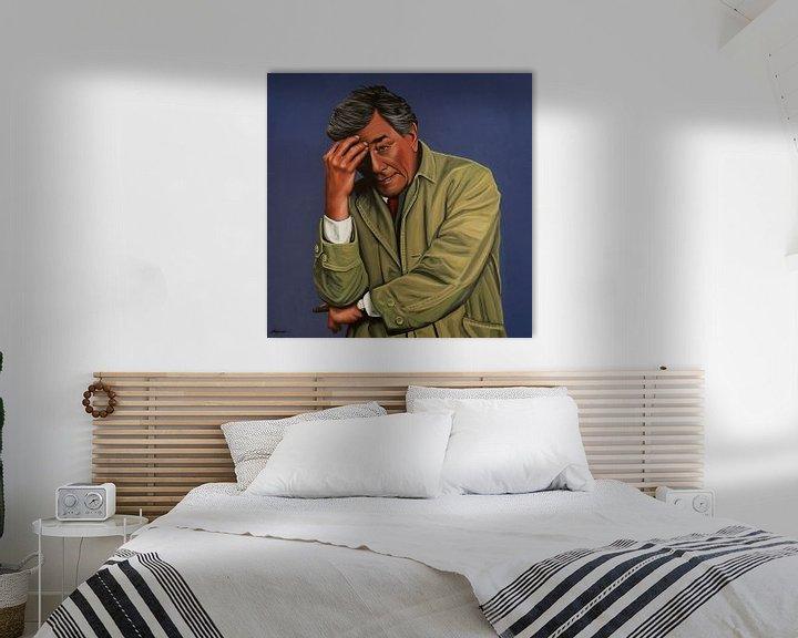 Beispiel: Peter Falk as Columbo painting von Paul Meijering
