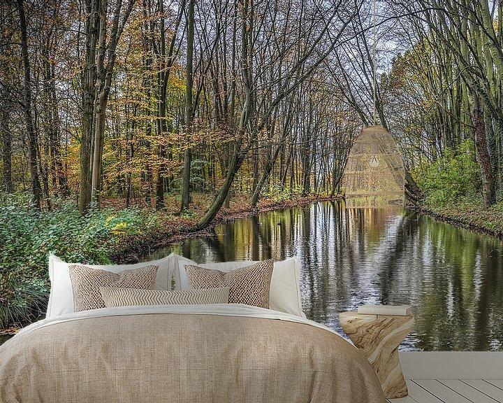 Sfeerimpressie behang: November in het Zuiderpark, Rotterdam van Frans Blok