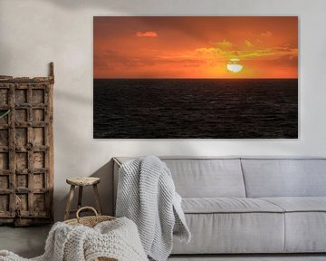Zonsondergang in Zoutelande van MSP Canvas