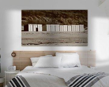 Strandhuisjes Zoutelande van MSP Canvas