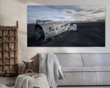 Dakota wrak op een IJslands strand van Ruud van der Lubben