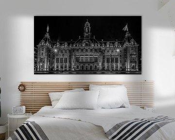 Das Rathaus von Rotterdam in Schwarz/Weiss von MS Fotografie | Marc van der Stelt
