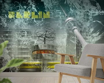 City-Art BERLIN Alexanderplatz Collage van Melanie Viola