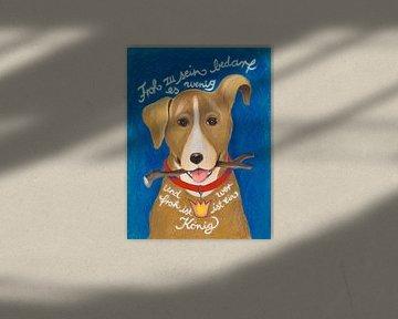 Froher Hund von Dorothea Linke