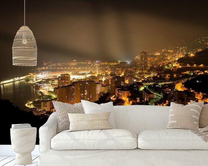 Sfeerimpressie behang: Monaco by Night van Louise Poortvliet