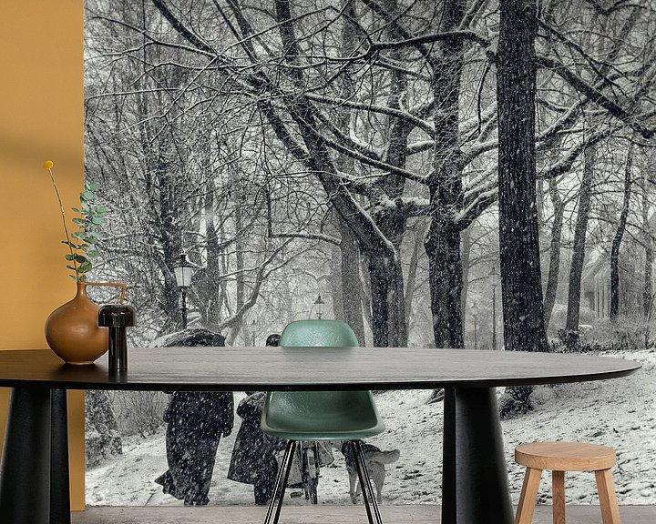 Sfeerimpressie behang: December sneeuw van Tvurk Photography