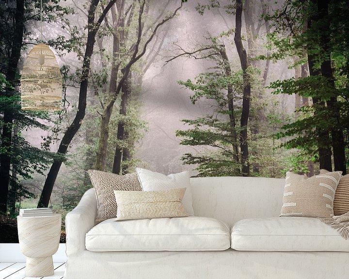 Sfeerimpressie behang: De ochtendmist van Tvurk Photography