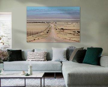 Endlose Straße von Annemiek van Eeden