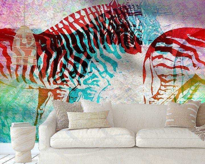 Beispiel fototapete: Zebra Schimmen   von Nicky`s Prints