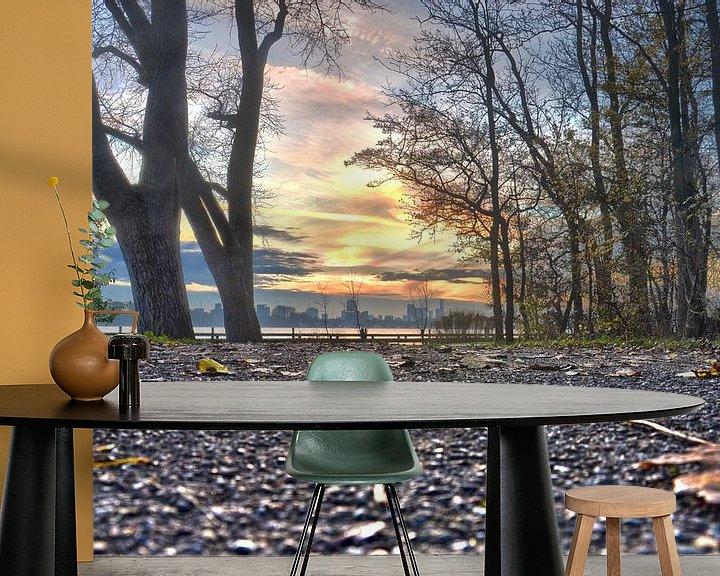 Sfeerimpressie behang: November in het Kralingse Bos, Rotterdam van Frans Blok