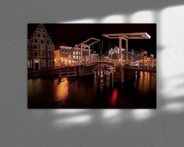 Haarlem at night HDR Catharijnebrug von Wouter Sikkema