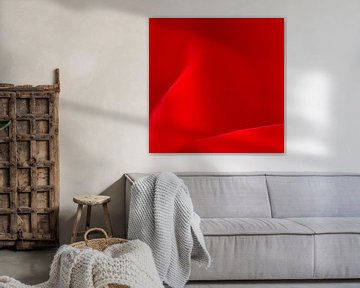 Roos abstractie van Greetje van Son