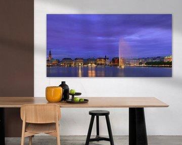 Binnenalster, Hamburg, Duitsland van Henk Meijer Photography