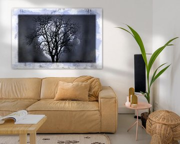Tree in the Moonlight van Nicky`s Prints