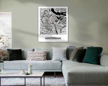 Karte Amsterdam in Worten von Muurbabbels Typographic Design
