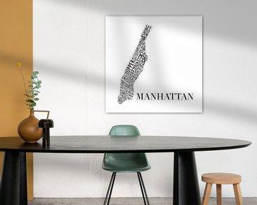 Karte Manhattan Typografie von Muurbabbels Typographic Design
