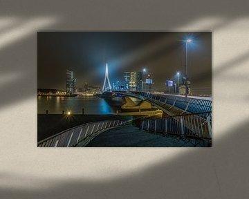 De Erasmusbrug in Rotterdam von MS Fotografie | Marc van der Stelt