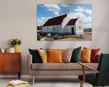 kerk op het deense eiland Mandø  van Geertjan Plooijer