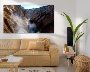 Rivier Yellowstone NP USA von Dimitri Verkuijl