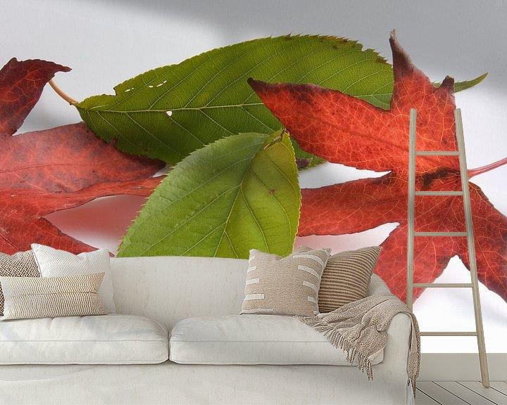 Sfeerimpressie behang: Minimalistische herfst van Bas Smit