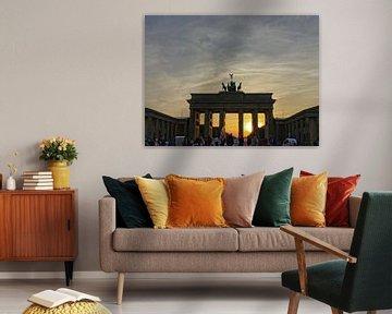 Zonsondergang bij de Brandenburger Tor, Berlijn van Ralf Schroeer