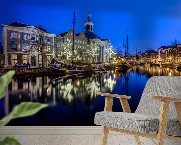 Sfeerimpressie behang: Lange haven. Schiedam van Brian van Daal