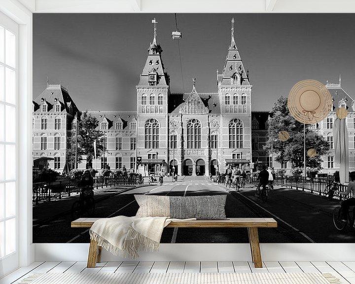 Sfeerimpressie behang: Rijksmuseum Amsterdam van Tom Elst