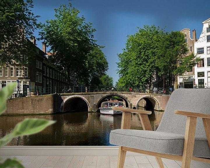 Sfeerimpressie behang: Herengracht Leidsegracht Amsterdam van Tom Elst