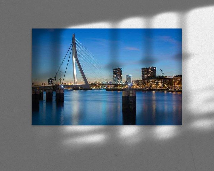 Sfeerimpressie: Rotterdam blue hour van Ilya Korzelius