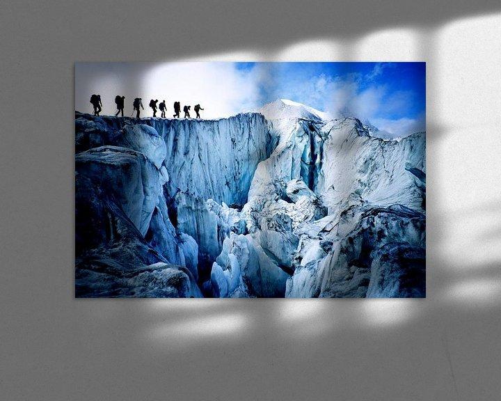 Sfeerimpressie: Bergbeklimmers op de Glacier de Moiry van Menno Boermans