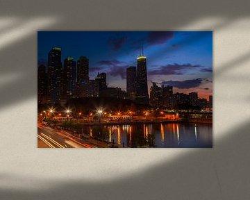 CHICAGO Sunset II van Melanie Viola