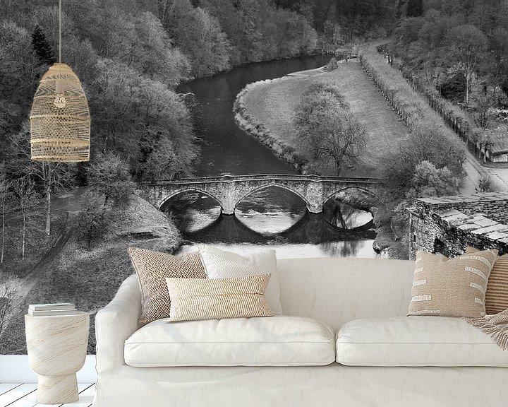 Sfeerimpressie behang: Een blik op de rivier De Semois 1 van Anouschka Hendriks