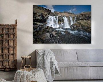 Gluggafoss watervallen IJsland van Ruud van der Lubben
