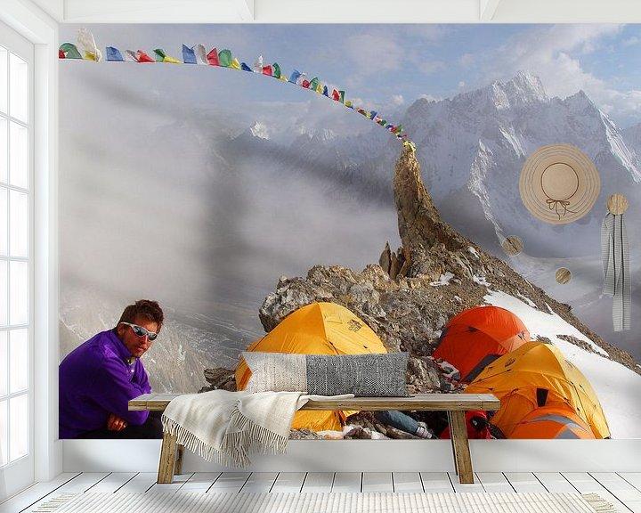 Sfeerimpressie behang: Broad Peak van Menno Boermans