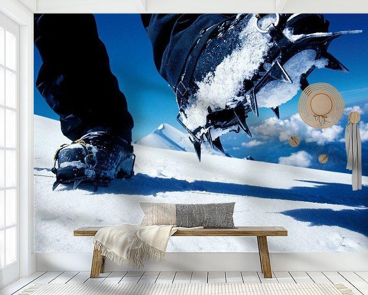 Beispiel fototapete: Steigeisen am Mont Blanc von Menno Boermans