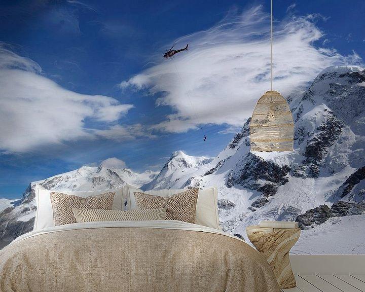 Sfeerimpressie behang: Flying High van Menno Boermans