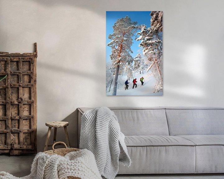 Sfeerimpressie: Sneeuwschoenwandelen Finland van Menno Boermans