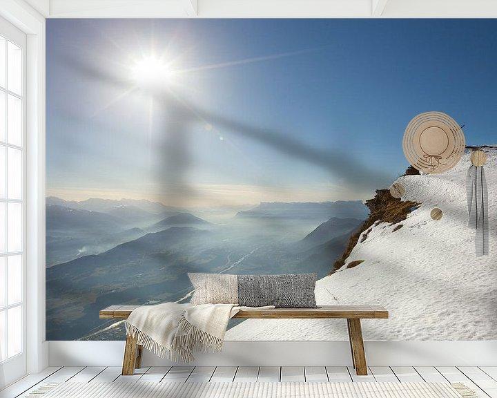 Sfeerimpressie behang: Col de Arclusaz van Menno Boermans