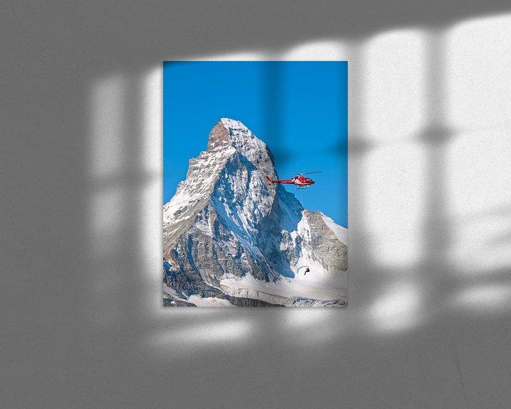 Sfeerimpressie: Air Zermatt en de Matterhorn, Zwitserland van Menno Boermans