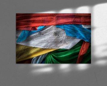 Tibetaanse gebedsvlaggetjes van Roel Beurskens