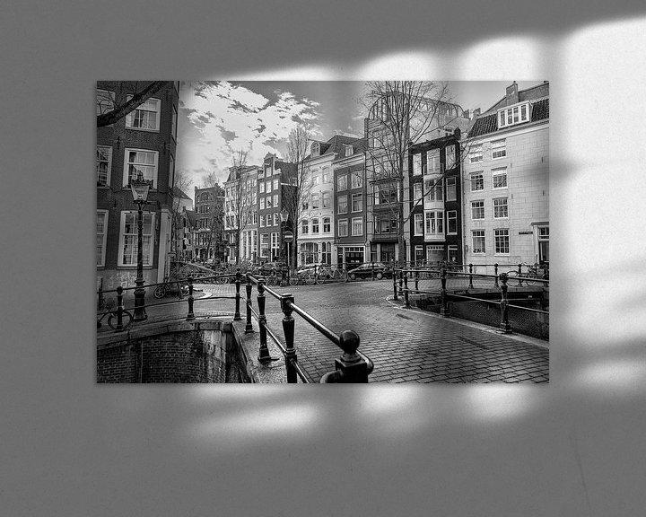 Sfeerimpressie: Kruising van de Rechtboom- en de Kromboomsloot in Amsterdam. van Don Fonzarelli