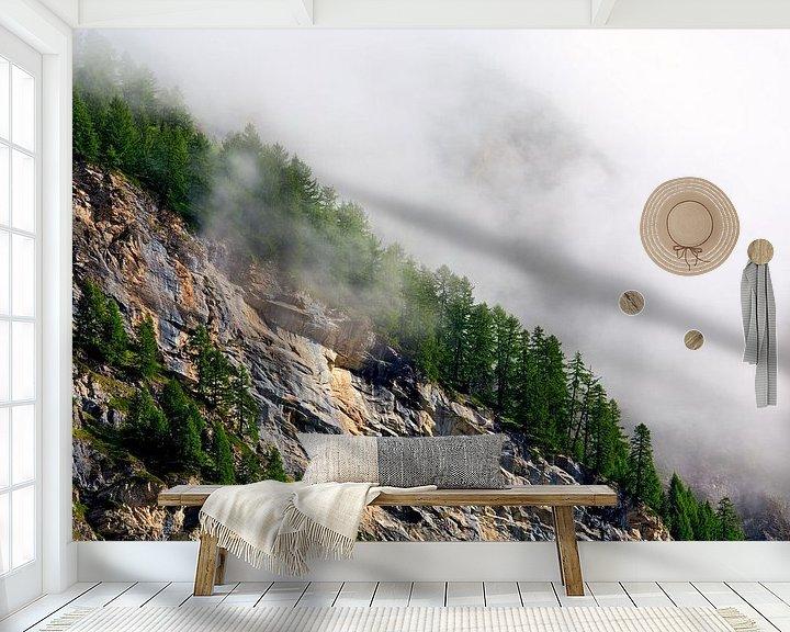 Sfeerimpressie behang: Mist op de flanken van Anton de Zeeuw